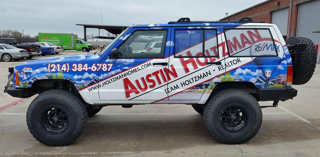 Realtor Jeep Vehicle Wrap