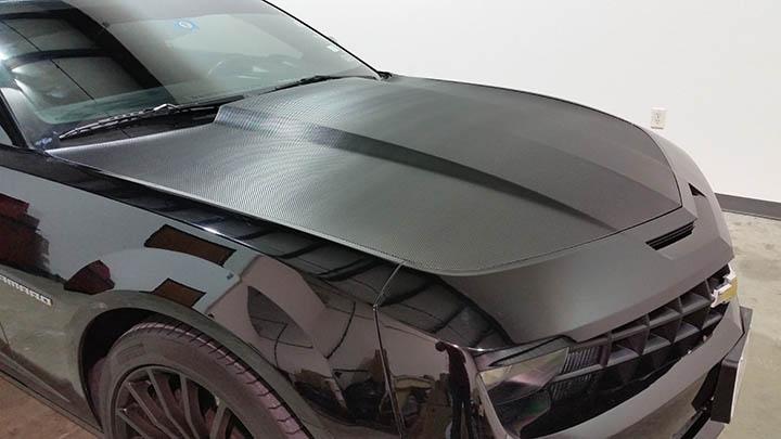 Camaro SS Carbon Fiber Hood Wrap