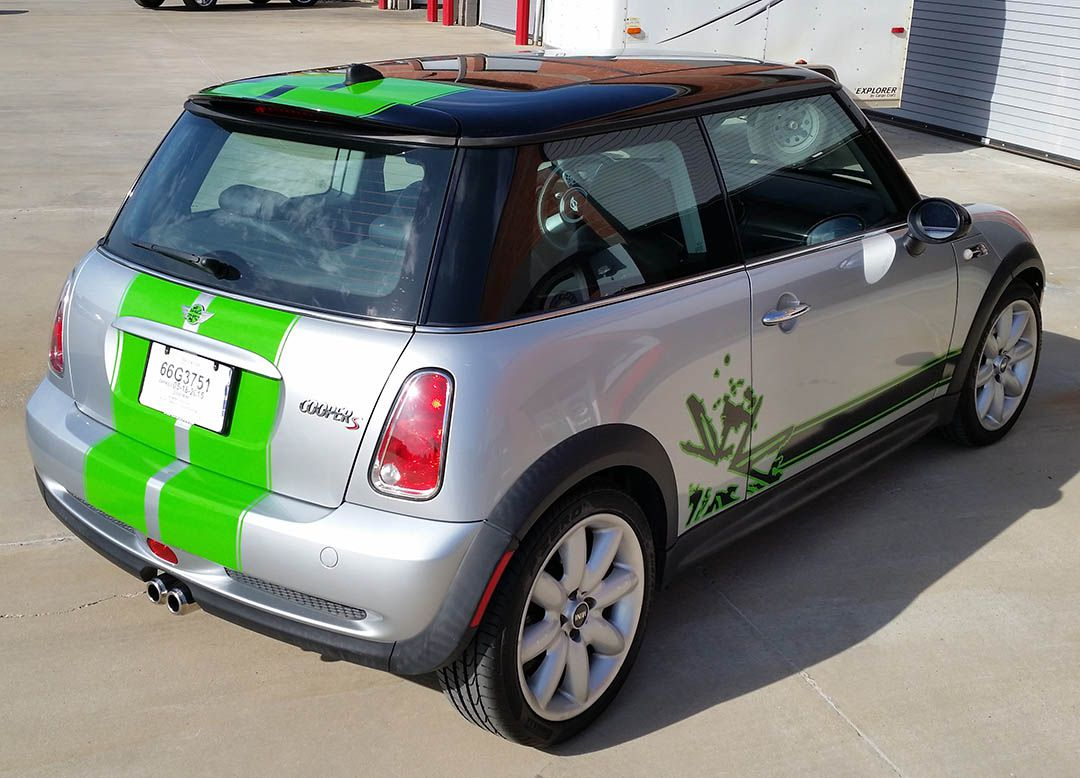 Mini Cooper Wrap Racing DFW Lewisville