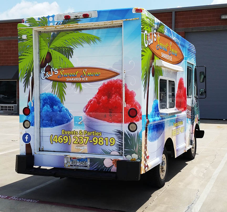 food truck wrap beach wrap cool