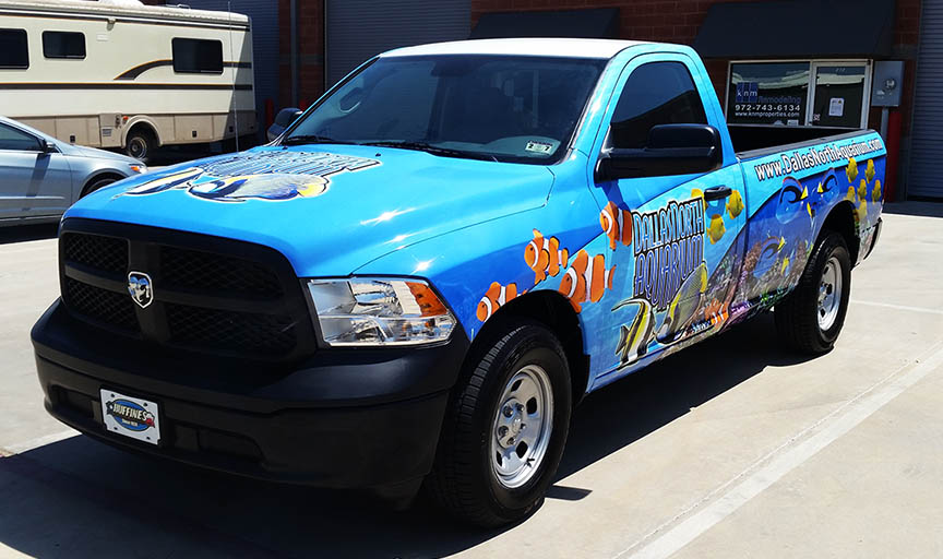 dallas vehicle wrap truck