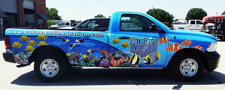 dallas truck wrap side