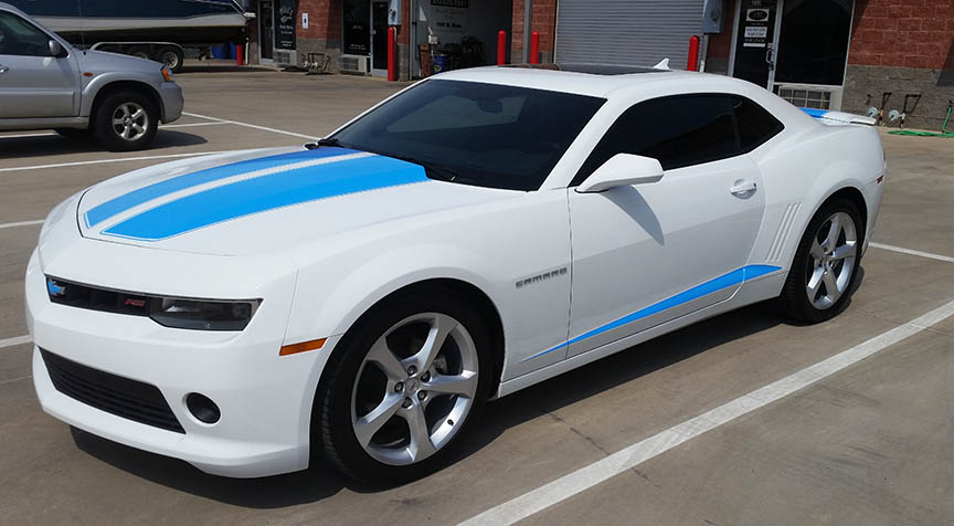 dallas vehicle wraps racing stripes camaro
