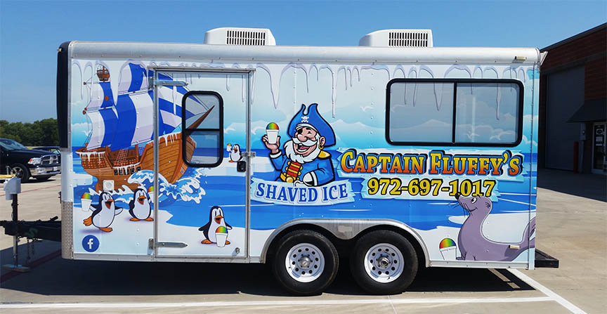 trailer wrap lewisville shaved ice