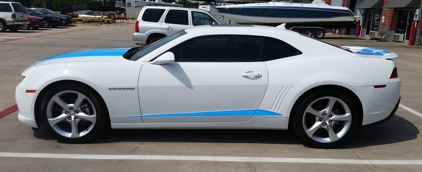 camaro racing stripes lewisville wraps