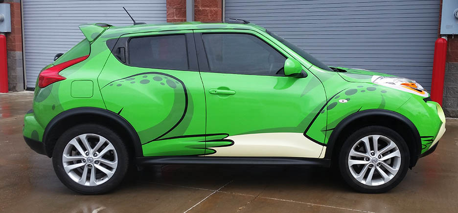 Frog vehicle wrap lewisville dallas