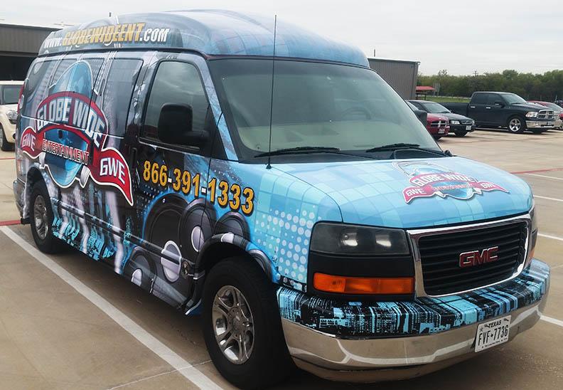 van vehicle wrap lewisville