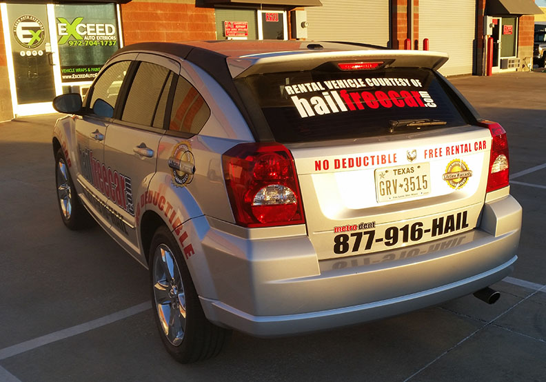 car wrap dallas hailfreecar