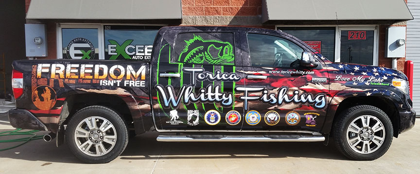torica whitty fishing truck wrap dallas