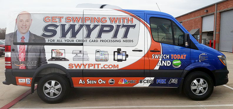 swypit van vehicle wrap dallas