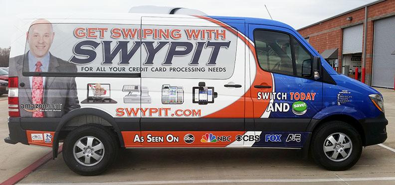 swypit van vehicle wrap dallas