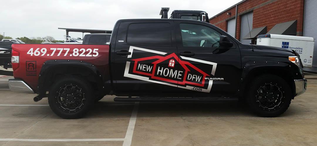 Dallas Lewisville Truck Wrap