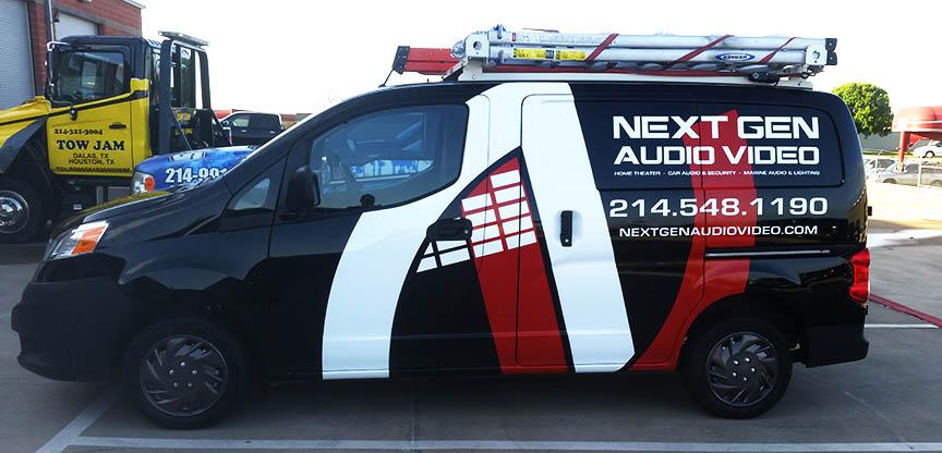 Next Gen Audio Car Wrap