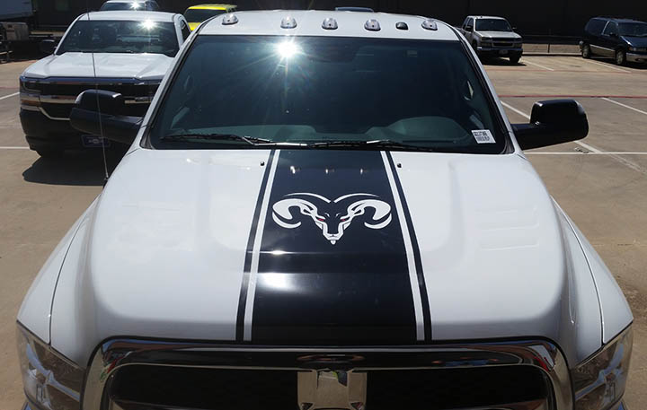 ram vehicle truck wrap lewisville