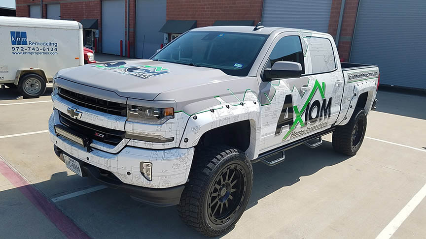 Axiom truck wrap