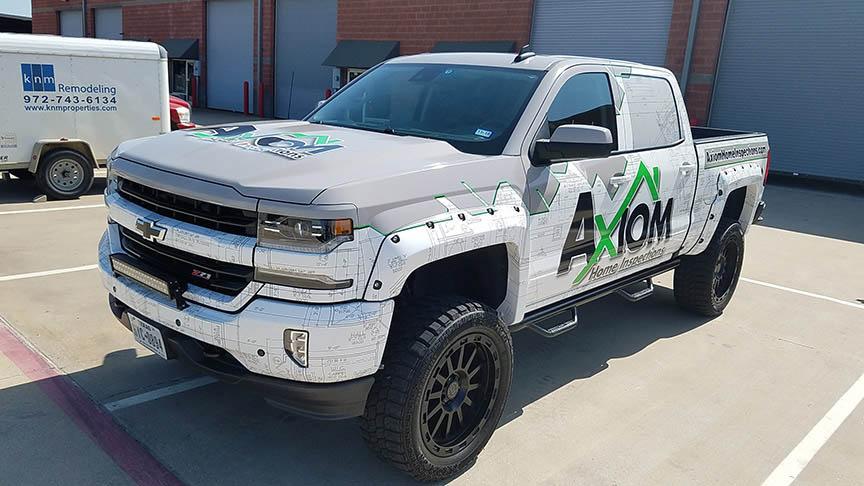 Axiom truck wrap