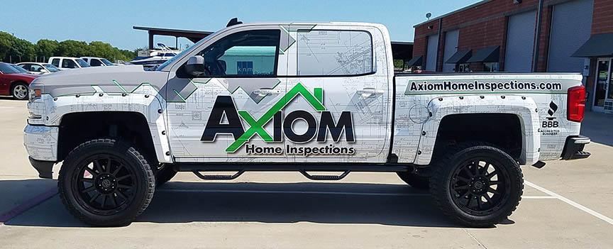 axiom truck wrap side
